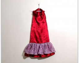 Red Silk Dog Dress