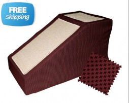burgundy pet ramp