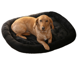 Bolstered fur pad dog bed