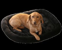 Bolstered fur pad dog bed