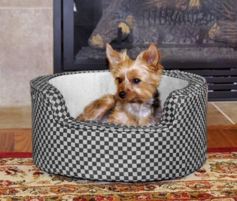 Round comfy pet bed